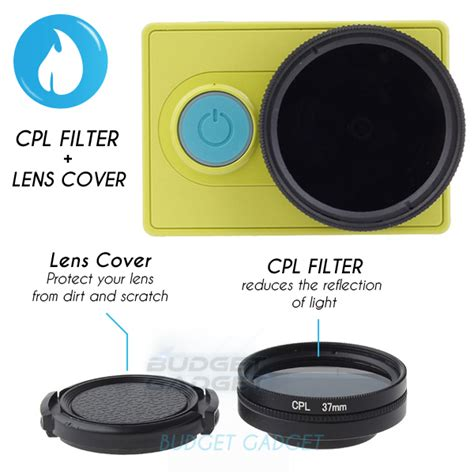 Filter Lensa Cpl Accessory 37mm For Xiaomi Yi Black Y2371 jual cpl filter lens 37mm for xiaomi yi budgetgadget