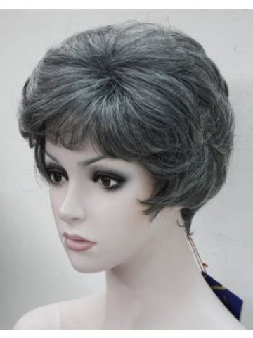 best style wigs for the elderly fashion black with grey middle aged women elderly natural