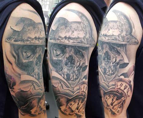 memorial quarter sleeve tattoo war memorial half sleeve tattoo by alan aldred tattoos