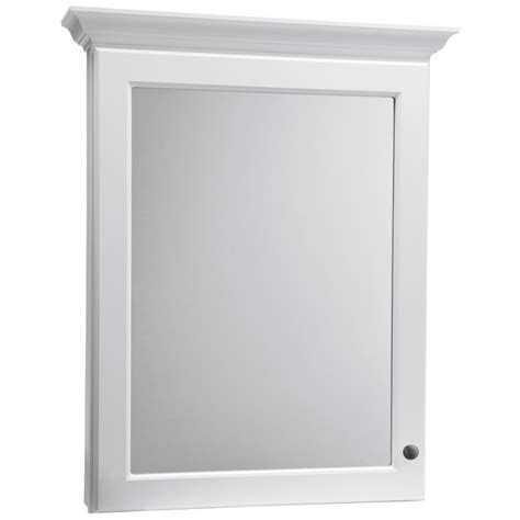 Wall Mounted Medicine Cabinet Lowes Shop Allen Roth Northrup 30 In X 37 In White Surface