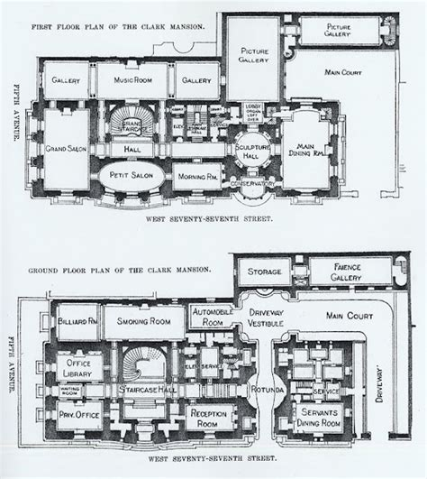 Oak Alley Floor Plan The Gilded Age Era The William A Clark Mansion New York