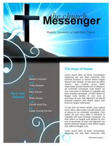 Sunday School Newsletter Templates by Blue Light Cross Background Worship Backgrounds