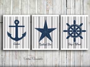 nautical design nautical wall decor modern art print set navy blue by eeartstudio