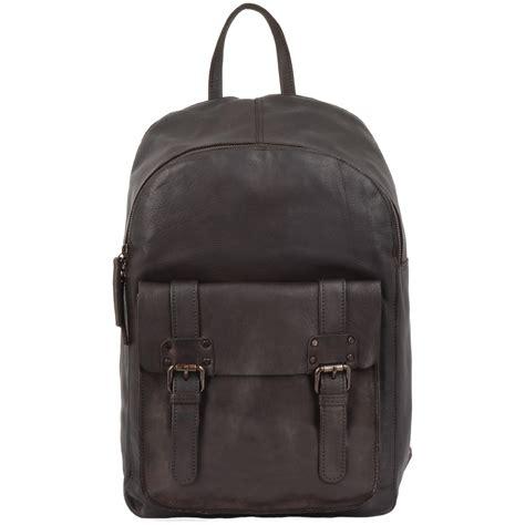 backpack sofa backpack sofa unisex leather vintage wash backpack brown 7999