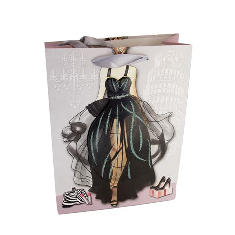 gift bag 3d element black dress from stylish gifts