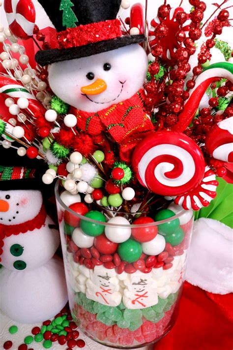 how to do a christmas candy sunday centerpiece centerpiece two