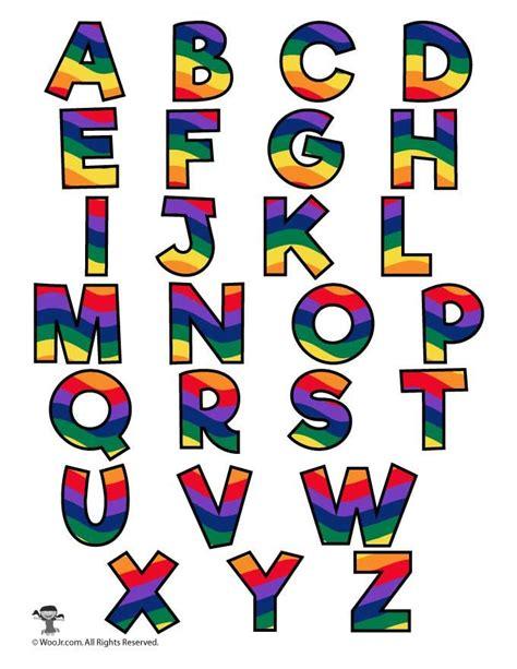 colored bubble letters rainbow alphabet printable letters alphabets alphabet