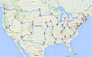 us map driving times this planned the most epic and efficient road trip