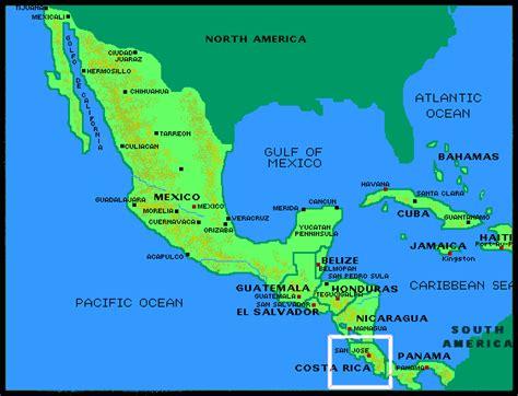 south america map costa rica costa rica map