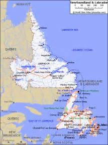 map of roads of newfoundland and labrador maps of canada