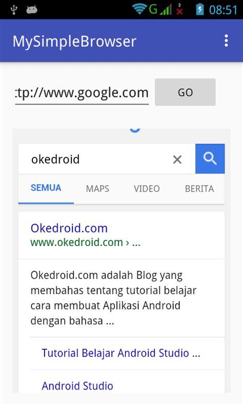 aplikasi android crud sederhana jiephuu s blog belajar cara membuat aplikasi browser sederhana android