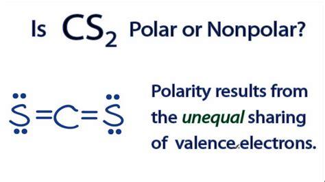 which electron dot diagram represents a polar molecule cs2 electron geometry images