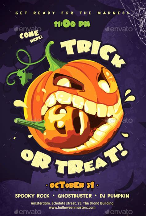 Trick Or Treat Flyer Templates the trick or treat flyer template for