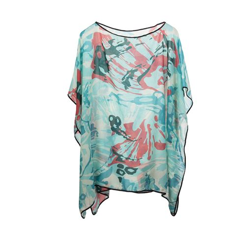 Kaftan Mayang Polos B new womens kimono cover up chiffon kaftan poncho top shirt swimwear ebay
