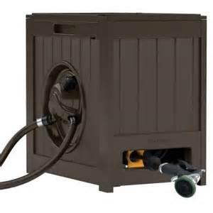 home depot water hose reel suncast 125 ft aquawinder auto rewind hose reel rsh125j