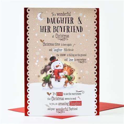 christmas card daughter her boyfriend only 99p