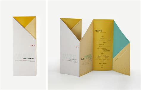 Different Paper Folds - best practices for brochure design notes on design