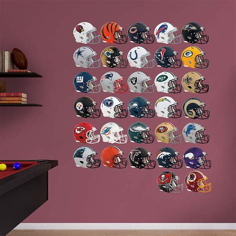nfl fatheads wall stickers nfl 2013 tradeables complete set decal shop fathead 174 for nfl collectibles