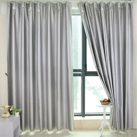 Thick Soundproofing And Blackout Curtains In Solid Color