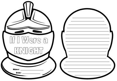 helmet design worksheet knight writing templates if i were a knight creative