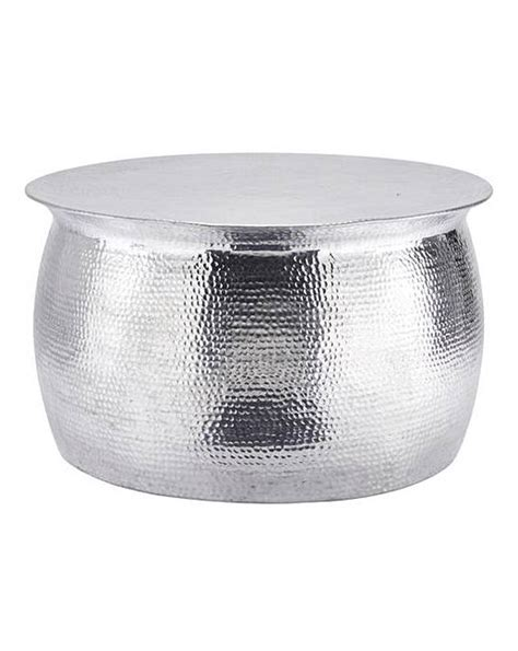 Artisan Hammered Metal Coffee Table Marisota