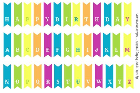 free printable happy birthday banner for cake 6 best images of free printable bunting banner birthday