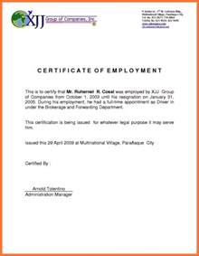 Certificate Of Employment Template Uk   Certificate234
