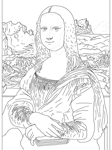 Famous Paintings Van Gogh Vermeer Flowers American Gothic Artist Coloring Pages