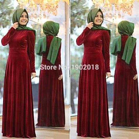Fashion Abu Dhabi Maron burgundy evening gowns 2016 muslim evening dress