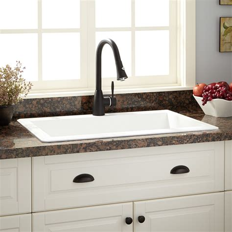 white granite kitchen sink 33 quot ignacio drop in granite composite sink eggshell