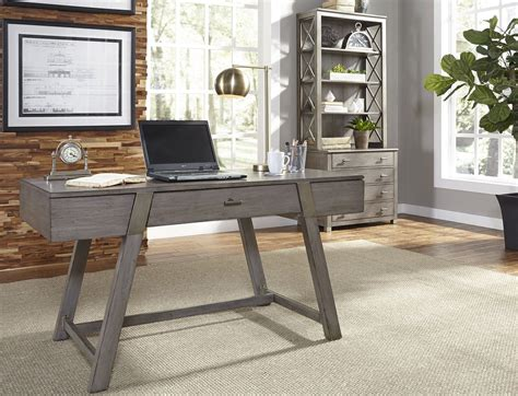 moss creek gray home office set from liberty coleman