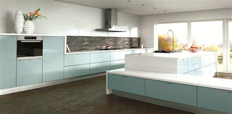 Blue Gloss Kitchen Cabinets by Acrylic Made To Measure High Gloss Kitchen Doors From