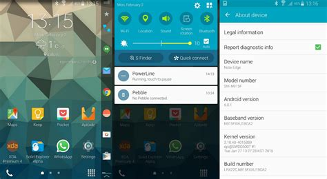 themes galaxy note edge android 5 0 1 lollipop leaked for the galaxy note edge