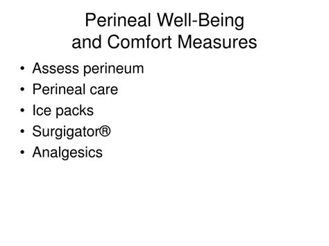 comfort care measures ppt the postpartal family adaptation and nursing