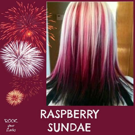 raspberry sundae hair colour inspiration rock your locks