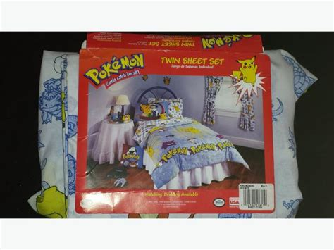 pokemon bedding twin pokemon bedding for twin fitted flat sheets and pillowcase pikachu saanich victoria