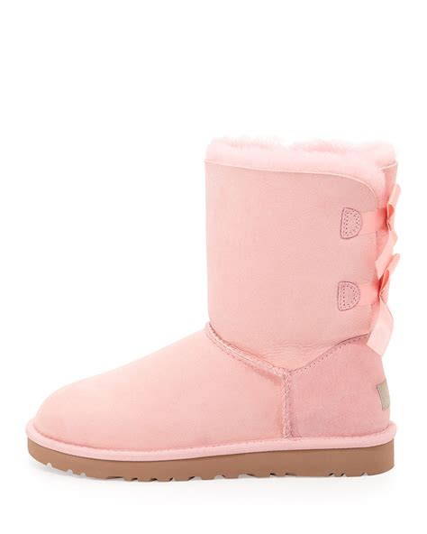 pink ugg boots with bows baby pink uggs bailey bow