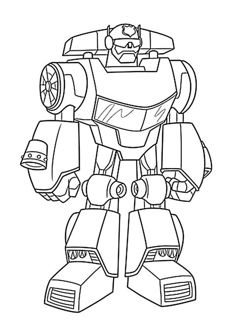 Bot Coloring Pages For Printable Free Rescue