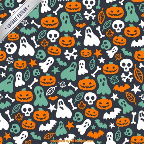 cute halloween pattern cute halloween pattern vector free download