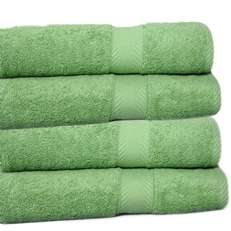 bath towels luxury 650 gram cotton bath towel olive green set of 2