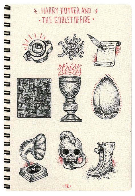libro the order of things dark harry potter illustrations google search tattoos harry potter