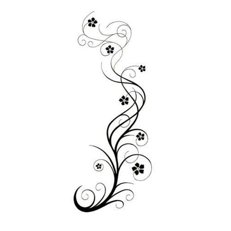 flower swirl tattoo designs vine swirly vine with flowers design