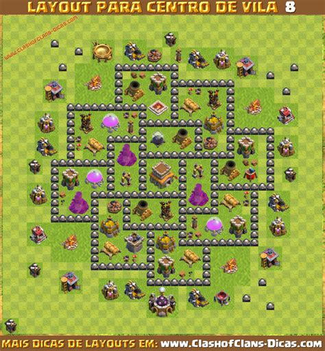 layout cv 8 layouts de centro de vila 8 para clash of clans clash of