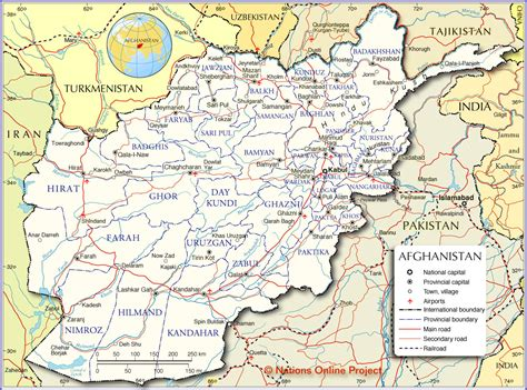 political map of afghanistan political map of afghanistan nations project