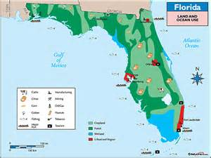 florida industry map florida land use map by maps from maps world s