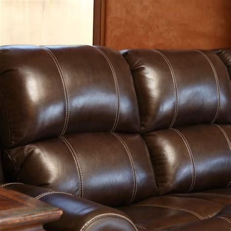 kingston leather sofa abbyson living kingston leather power reclining sofa in