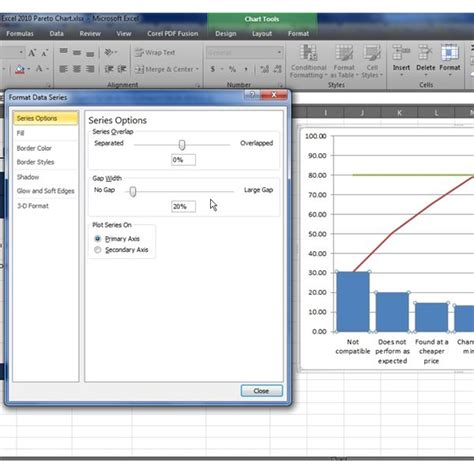 pareto chart template excel 2010 how to make a pareto chart in excel 2007 2010 with