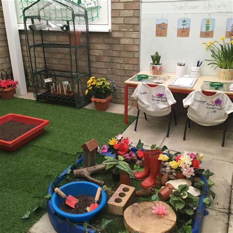 eyfs  role play garden centre play area garden