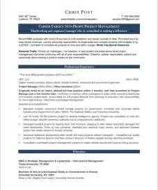 Project Management Resume Exles by Project Manager Resume Sle