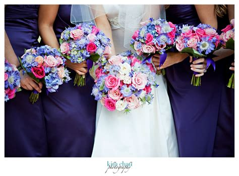 Pink Flowers Wedding by Pink And Blue Wedding Flower Bouquets Www Pixshark